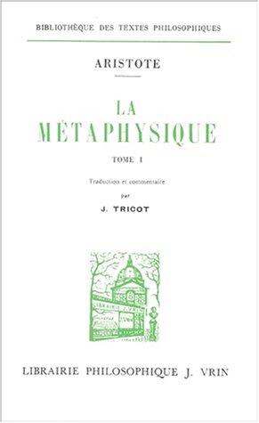 La métaphysique (2 vol.)