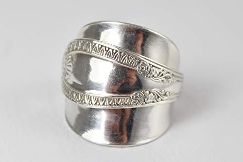 Ring 800 Silber Besteck Schmuck Ring, ca. 61 (19,5)