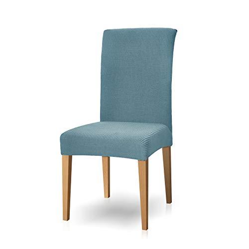 Subrtex spandex coprisedie con schienale copertura della sedia da pranzo, copertura protettiva modern elastico rimovibile lavabile anti scivolo (2 pezzi, azzurro)