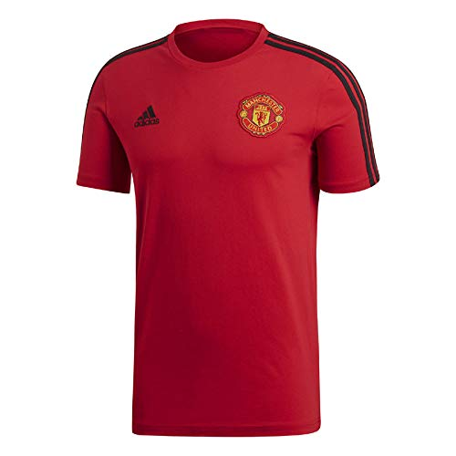 Adidas Manchester United FC 3-Stripes Camiseta, Hombre, Real Red, Noir, FR : XL (Taille Fabricant : XL)