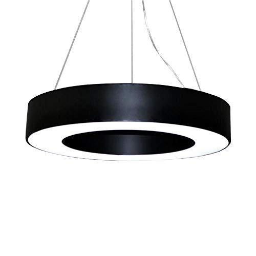 Rund LED Pendelleuchte Schwarz Schlafzimmer 54W 3000K Warmweiße Licht  Modern Ring Design Hängeleuchte Esszimmer Φ60cm Metall Und Acryl Hängen  Lampe Innen ...