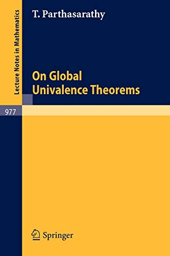 On Global Univalence Theorems (Lecture Notes in Mathematics (977), Band 977)