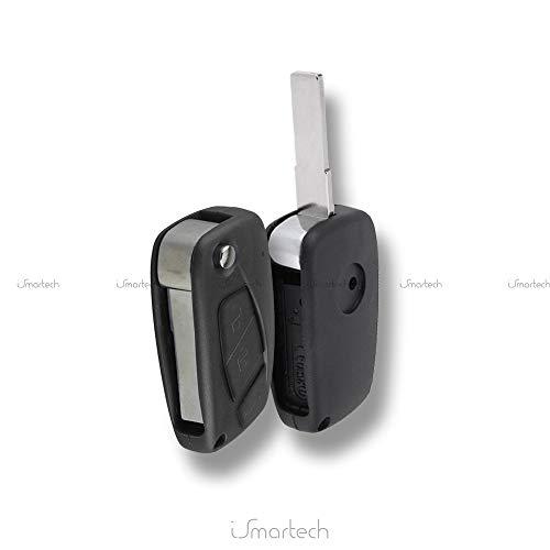 Guscio rigido cover chiave telecomando 3 tasti pieghevole compatibile con FIAT Grande Punto Stilo Panda Idea Doblo Ulysse Ducato