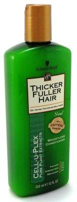 Thicker Fuller Après-shampooing épaississant - Formule légère avancée pour des cheveux plus épais et plus robustes - 355 ml (Boîte de 6)