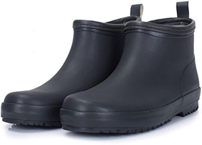 LHA Regen Stiefel Kurze Tube Stiefel Wasser Schuhe Herren Damenschuhe Wasserdicht Anti Rutsch Fruumlhling und Sommer