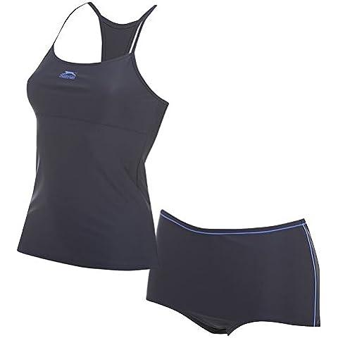 Slazenger Tankini Set Donna Costume da bagno bikini swimsuit, blue