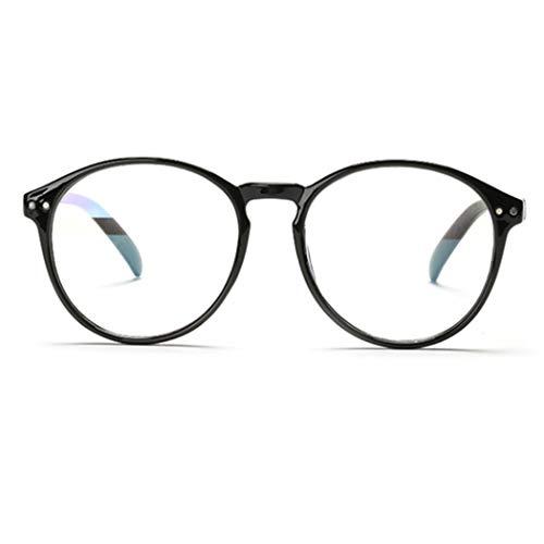 Tankaa Hornbrille Brille Dekobrille Extra Schmaler Rahmen Brille Klar Brille Nerdbrille Slim Rund Clear Brille in verschiedenen Farben