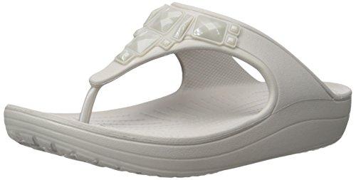 Crocs Damen Sloane Crystal Flip Silber (plat)
