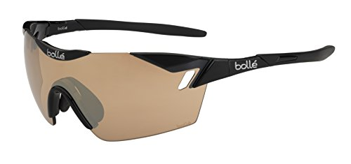 Bollé 6th Sense - Gafas de sol deportivas, color negro brillante