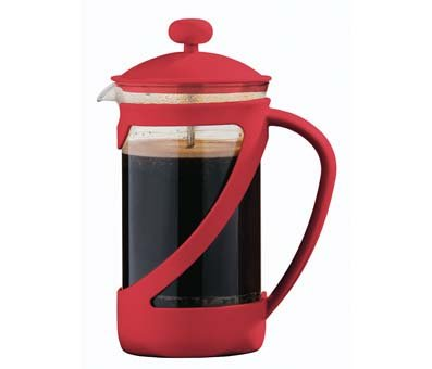 Red Kenya Cafetiere Coffee Maker French Press 600ml by PREMIER