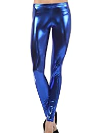 Guiran Mujer Pantalones Imitacion Cuero Leggings Leggins Push Up Skinny  Talle Alto 7e8cb8a7968d