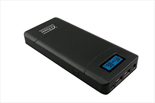 XTPower XT-20000QC2 Powerbank Moderner DC/USB QC2 Akku mit 20400mAh - 1x USB, 1x USB QC2 und DC Anschluss von 12 bis 24V 65W Max.