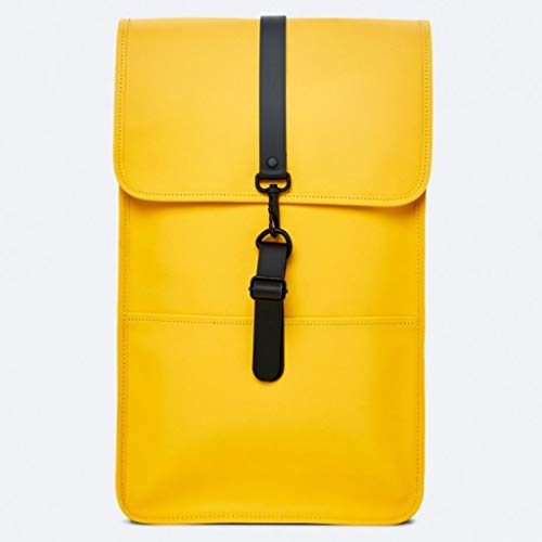 Rains water-resistant backpack yellow