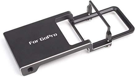 Kourpar Halterung für GoPro Hero 7 6 5 4 3 + Kamera verwendet mit DJI Osmo Mobile 2 /Zhiyun Smooth 4 Q/C/C+ / Feiyu SPG 2 Handheld Stabilizer Gimbal Garmin A/c Adapter