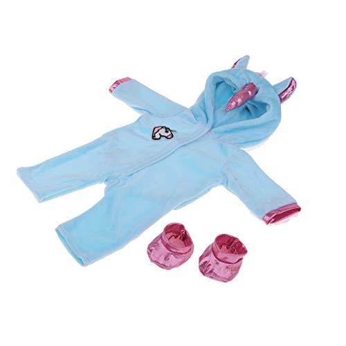 Baoblaze Combinaison et Chaussettes - Décor 18 Pouces Fille Américaine Enfant Cadeau - #1