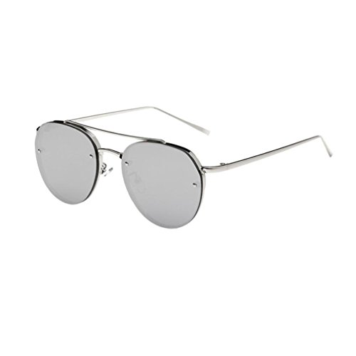 SANFASHION retro sonnenbrille damen herren Ellipse Metallrahmen Brille Trendy Fashion Shades