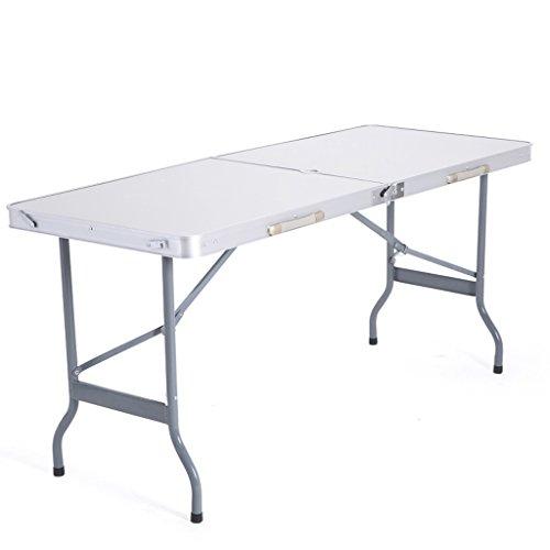 GWF Table Pliante en Plein air Table Pliante Tabouret Tabouret Table Pliante Table à Manger portative en Aluminium Table Tabouret