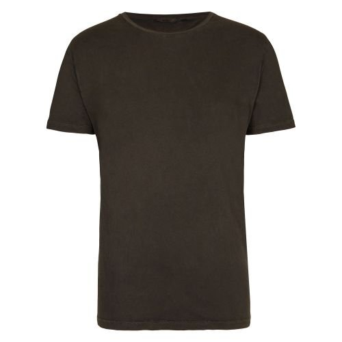 RVLT/Revolution Cotton Tee Garment Dyed Größe S Black - Revolution Tee Herren
