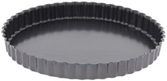 De Buyer 4705.20 Tourtière Cannelée à Bords Droits - Fond Fixe - Acier Revêtu - ht. 2 cm - Ø 20 cm