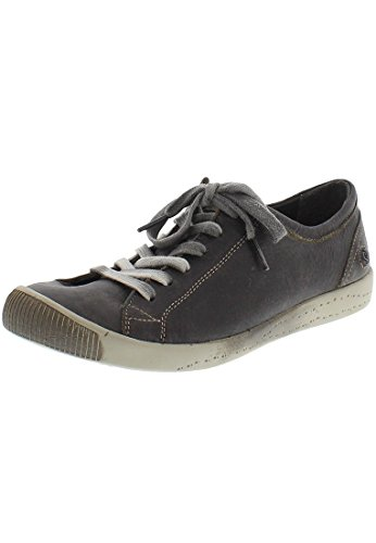 Softinos Isis washed leather, Derbies à lacets femme grau