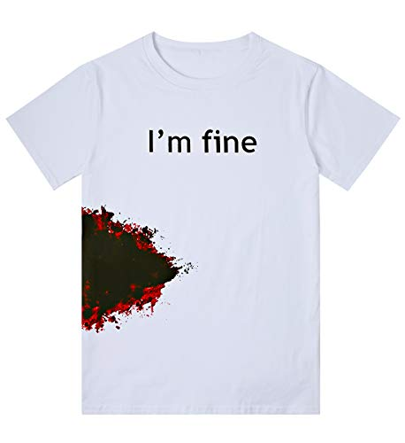 Loveternal Halloween im Fine T-Shirt 3D Gedruckt Halloween Kostüm Jungs Blut Grafik Lustige Tops für Männer Party Geburtstagsgeschenke Schwarz Tee Shirt M
