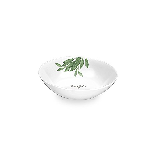 Epicurean Melamin Garden Herbs Design DIP/Tapas Schüssel-12,5cm-Salbei