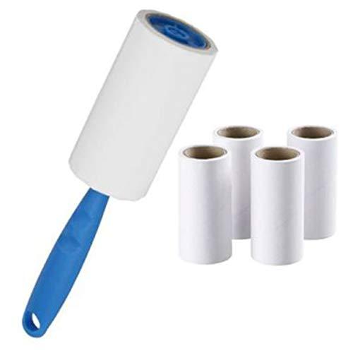 BIYI Papierrolle Kleidung Haarentferner Klebrige Lockenwickler Klebriges Papier Tragbare Kleidung Abstauben Klebrige Lockenwickler Pinsel weiß & blau