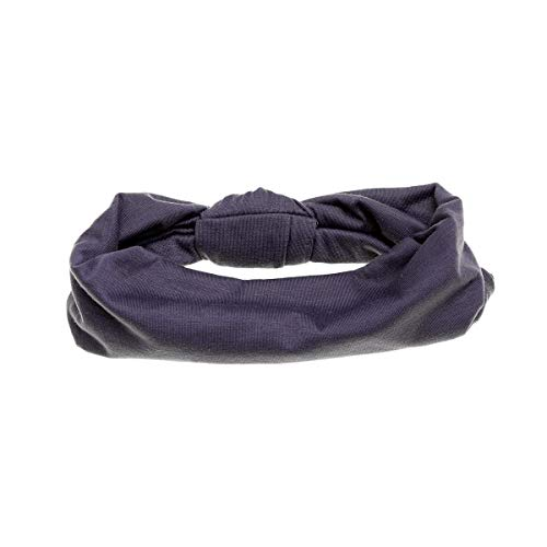 Lurrose Wide Sports Stirnbänder Knot Elastic Cotton Hair Band Wrap für Laufen Yoga (Dark Grey) -