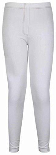 Neue Frauen Plus Size dünne Stretch Jeans Jegging Einbau 42-56 White