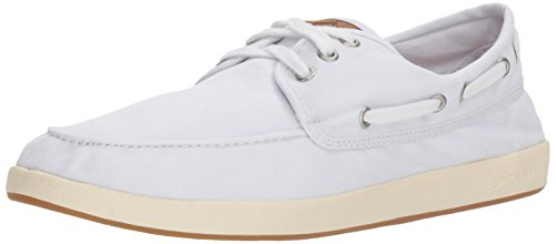 Sperry Herren Bootsschuhe STS17216 Drift Boat 3-Eye White Weiss, Groesse:42 | 9 US | 8 UK