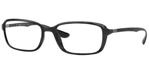 Ray Ban Optical Rx7037 Black Kunststoffgestell Brillen, 53mm