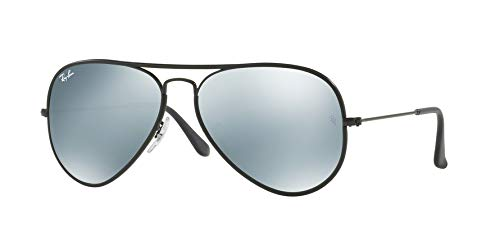 Ray Ban Sonnenbrille Aviator, 58 mm, Gestell: Schwarz, Gläser: Spiegel - Ban Schwarze Ray Sonnenbrille Aviator