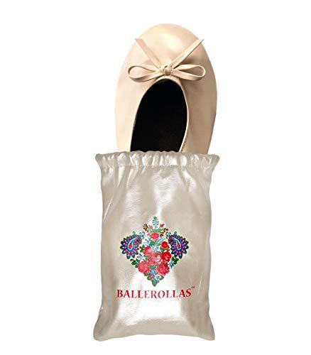 BALLEROLLAS Faltbare Ballerinas in beige - Afterparty Schuhe - Wechselschuhe, Brautschuhe, Hochzeitsgeschenk - Kunstleder Gr. 36