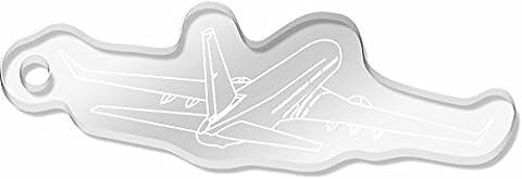 Large 'Jumbo Jet' Shaped Engraved Keyring (AK00011072)