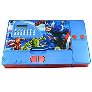Nandani enterprises Calculator Jumbo Pencil Box and Megnetic Pencil Box for Boys, Jumbo Pencil Box for Kids, 2 Avenger Jumbo Pencil Box