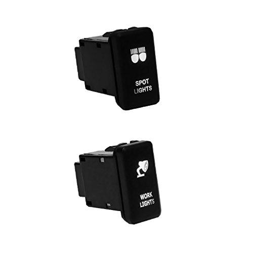 perfk 30A Auto-Druckschalter / LED-Lichtschalter/ Whippschalter für Fahrzeuge, Auto-teil