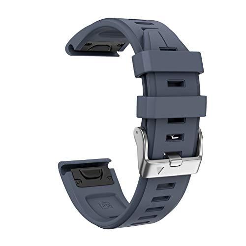 Huhu833 für Garmin Fenix 5S/5S Plus Armband, Sport Silikon UhrBand Uhrenarmband Schnellinstallation Ersatzarmband Strap für Garmin Fenix 5S/5S Plus 125-200mm (Marine) -