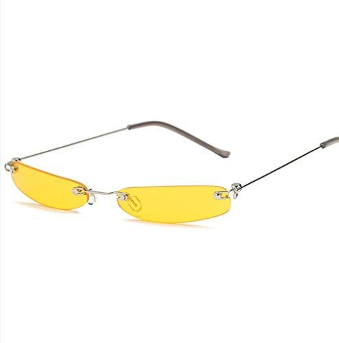 WYJW Für Mädchen \u0026 Damen Vintage Small Square Frame Sonnenbrille Schatten Frauen Brillen Metallrahmen Bonbonfarben Designer Sonnenbrille