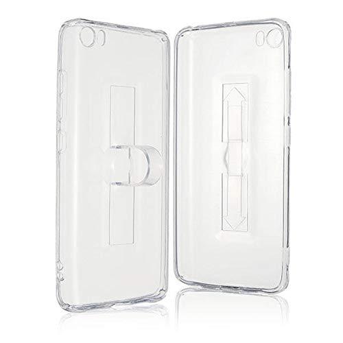 bare Finger-Ring-Halter Transparente weicher TPU Fall für Xiaomi Mi5 ()
