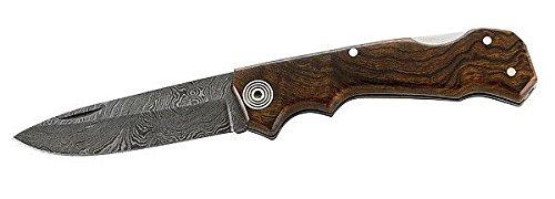 Nieto Couteau damas de Poche, 288 couches, plaquettes en bois fer de désert, platines en acier affiné decoré