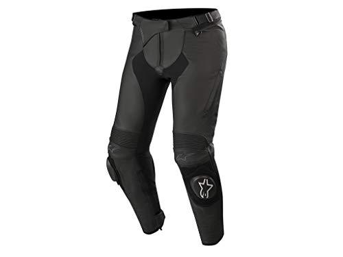 Alpinestars Motorradhose Stella Missile V2 Leather Pants Black, Schwarz, 38