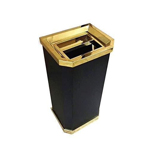 SOME Cubos de basura Basura y reciclaje Papelera Papelera del hotel Papelera con revestimiento de hierro...