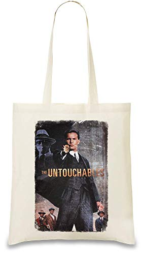 Die Unberührbaren Eliot Ness - The Untouchables Eliot Ness Custom Printed Tote Bag| 100% Soft Cotton| Natural Color & Eco-Friendly| Unique, Re-Usable & Stylish Handbag For Every Day Use| Custom