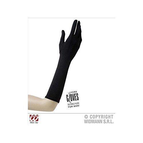 Schwarze lange Handschuhe ca. 40 cm