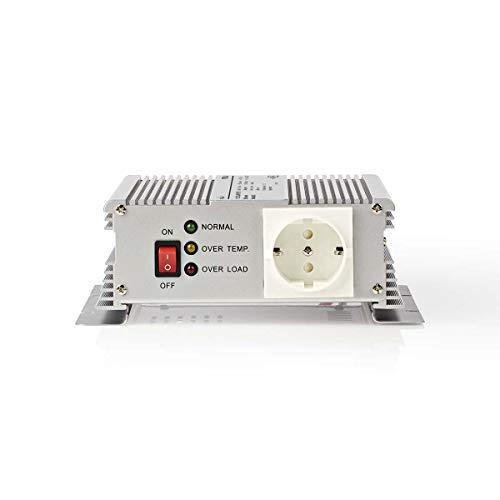 TronicXL Profi Wechselrichter 12V 230V 600W Spannungswandler Steckdose Adapter Konverter Converter Strom für KFZ Auto umwandeln modifizierte Sinuswelle Batterieklemmen Autobatterie Batterie