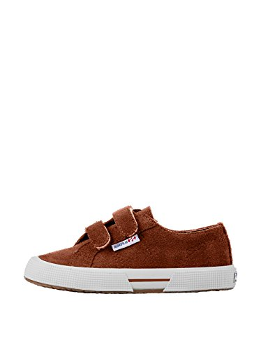 Superga 2950 Suvj Velcro, Baskets mode mixte enfant Brown Rustic