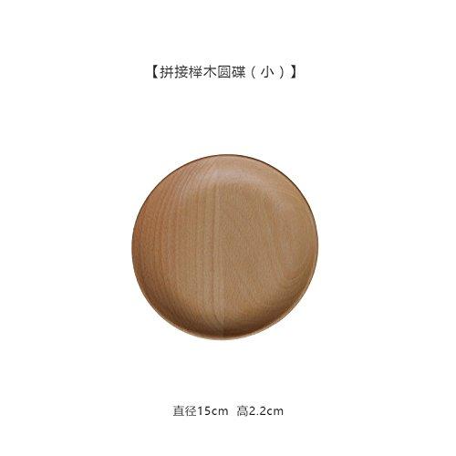 Bezigeorey Schwarze Walnuss Holz Teller Obst Kuchen Fach, 15 cm Spleißen von Buche (Fach Spleißen)