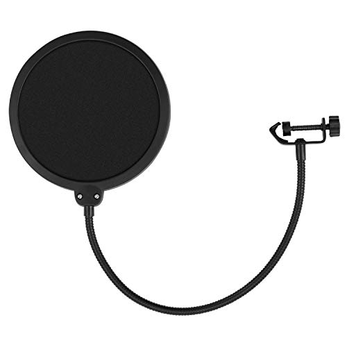 Tiger Pop Filter - Large Studio Microphone Wind Screen - with 360 Degree Flexible Gooseneck