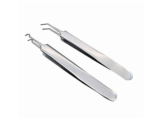 Professionelle Edelstahl Mitesser Entferner Pinzette und Pins Kit Fett Granulat Pickel Komedone Zit Extractor Werkzeuge Nase Gesicht Haut (A #)