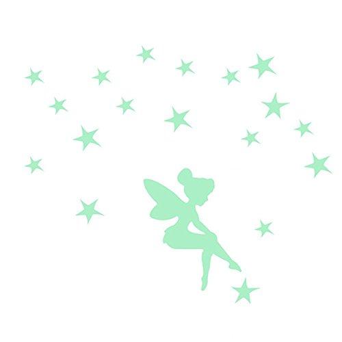 OrzBuy(TM) Pegatinas de Estrellas,Hermosa Fluorescentes Que Brillan en la Oscuridad Estrellas Cambiar Pegatinas,Verde